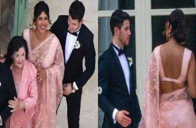 Priyanka Chopra ups the fashion game in pink saree at Sophie Turner and Joe Jonas' wedding