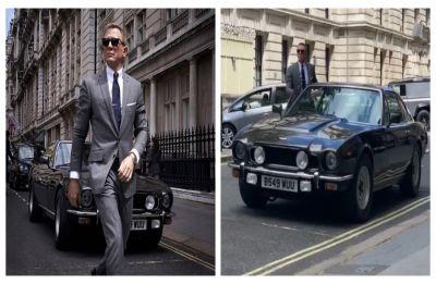 WATCH  Daniel Craig drive 007's Aston Martin V8 on Bond 25 set