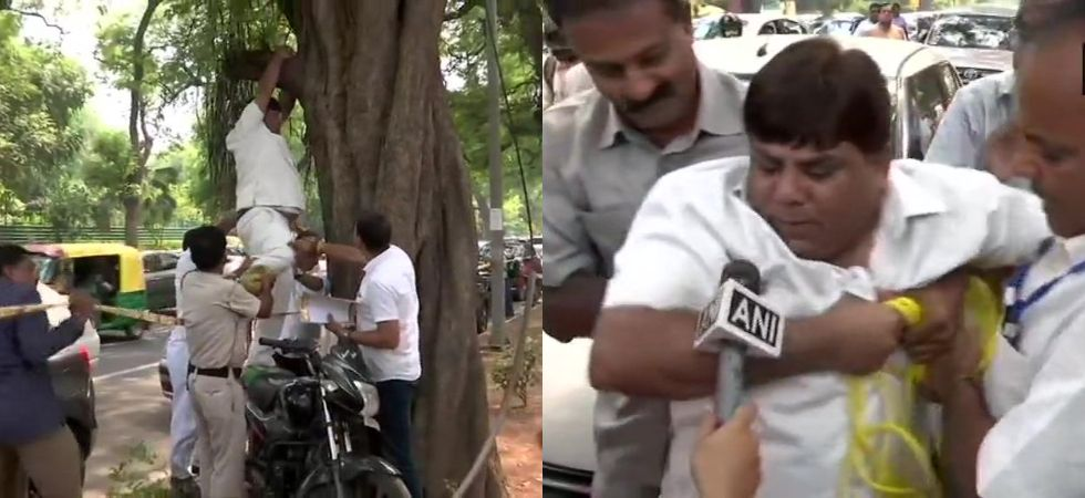 Rahul Gandhi's 'supporter' tries to commit suicide outside Congress headquarters over his resignation