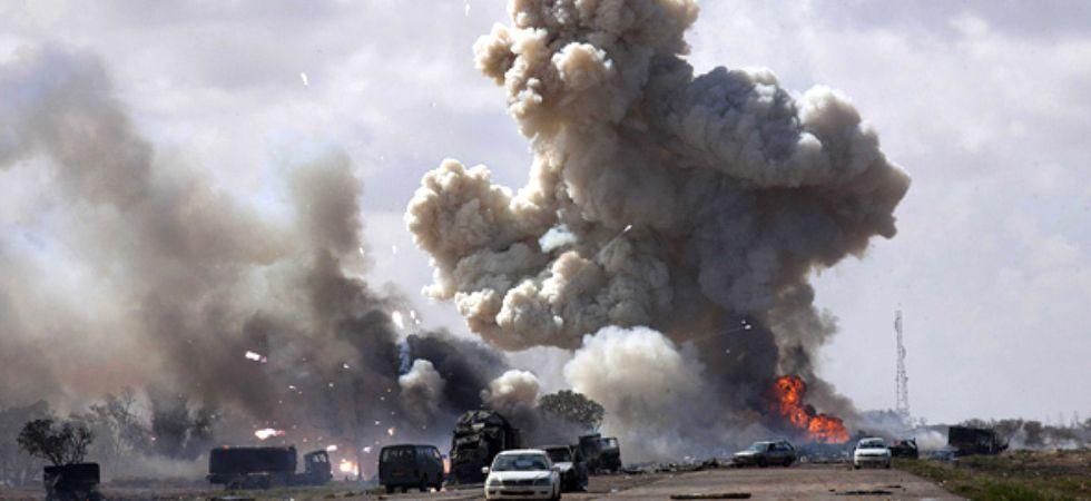 Tripoli airstrike (Photo Credit: Twitter)