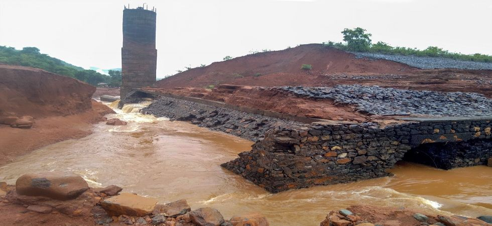A view of the Tiware dam which breached following incessant rains in Ratnagir (Photo Source: PTI)