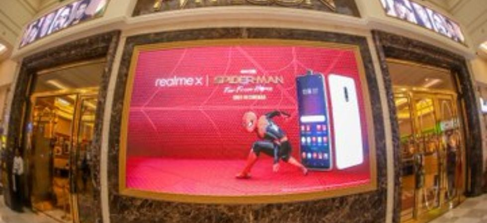 Realme X Spider Man theme (Photo Credit: Twitter/Realme)
