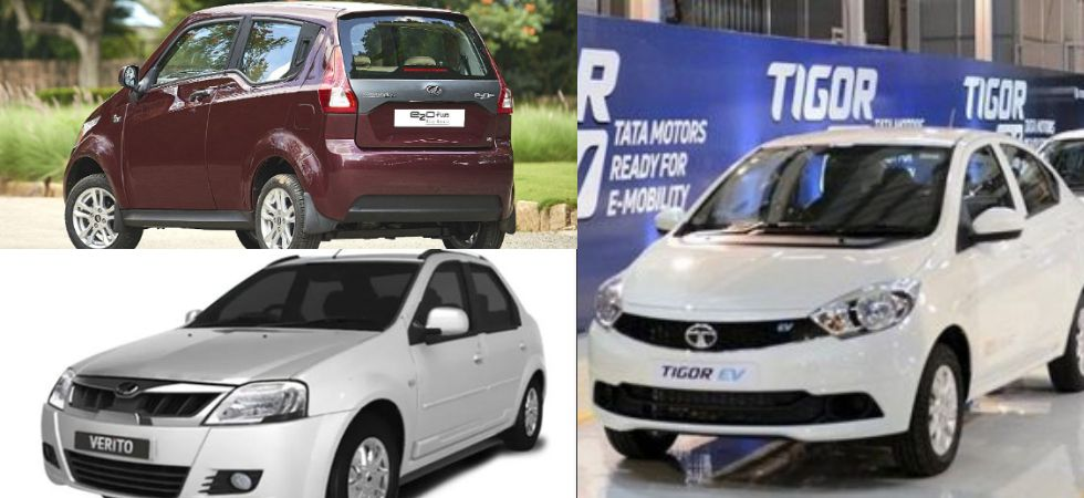 Tata Tigor EV & Mahindra eVerito & Mahindra e20 Plus (File Photo)