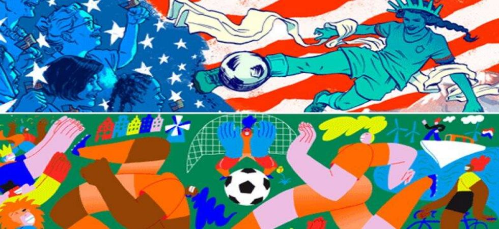 Google doodle for FIFA Women's World Cup final 2019 (Photo Source: screen grab)