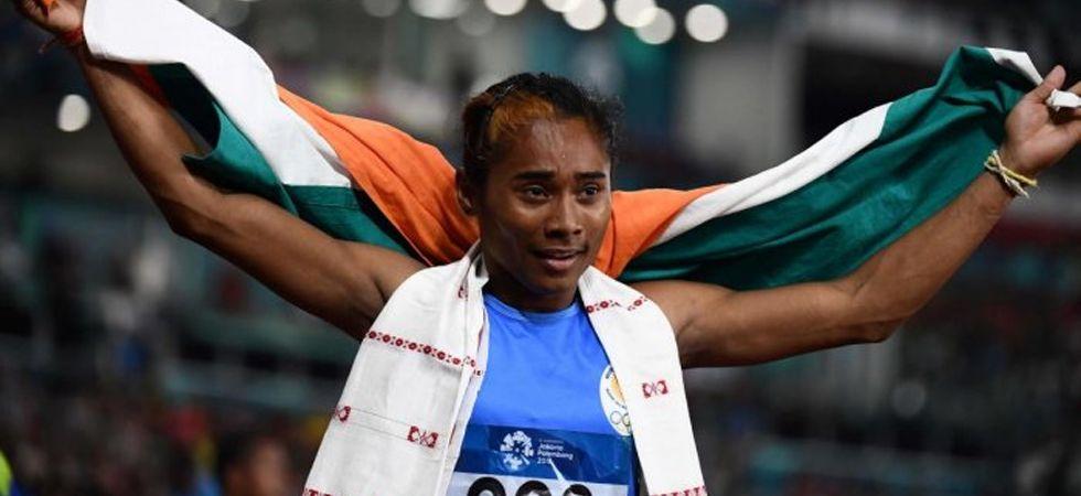 Star Indian sprinter Hima Das