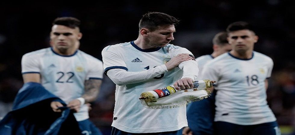 Lionel Messi was sent off for only the second time in his career but Argentina held on to secure a 2-1 win against Chile to finish second in Copa America. (Image credit: Twitter)
