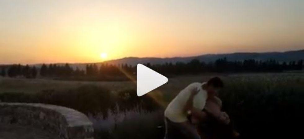 In Video: Priyanka Chopra dancing and falling into Nick's arms before setting sun