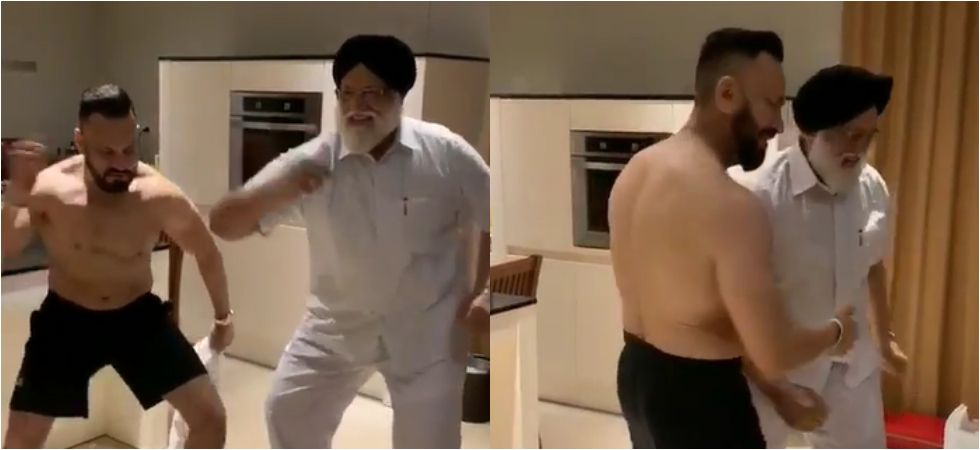 Salman Khan's bodyguard Shera dancing with his father will make your day.