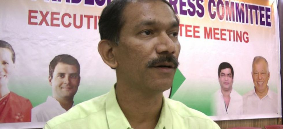 Goa Congress chief Girish Chodankar (Photo Credit: Twitter)