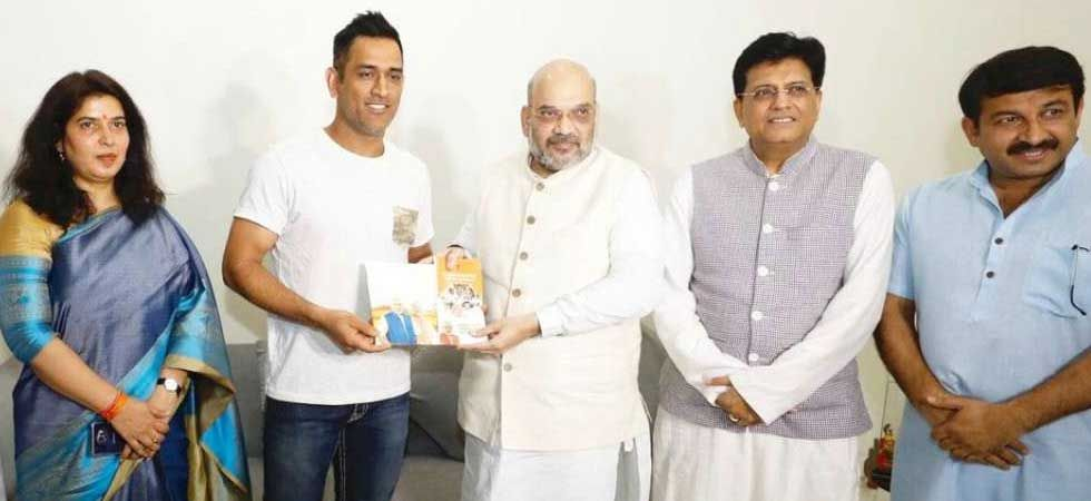 BJP chief Amit Shah had met Dhoni as part of his