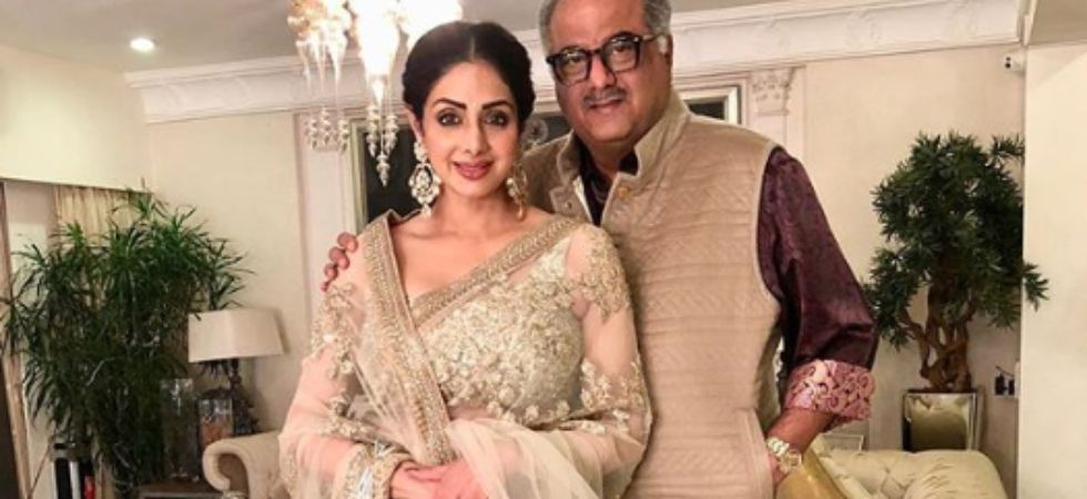 Sridevi with Boney Kapoor.