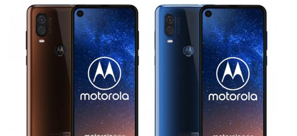 Motorola One Vision Bronze Gradient colour & Sapphire Gradient (blue) colour (Photo Credit: Twitter)