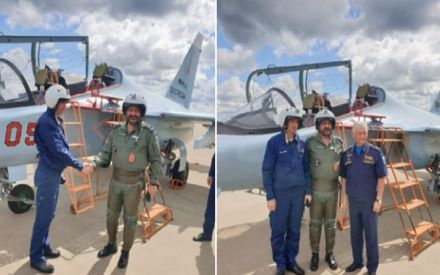 IAF Chief Marshal Birender Dhanoa takes sortie on Russian