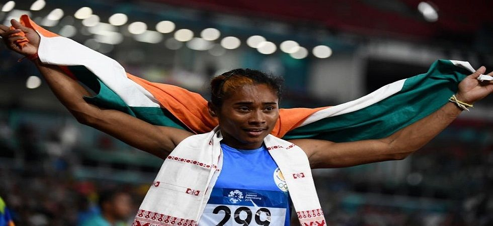 Hima Das wins 3rd gold in space of two weeks (Image Credit: Twitter)