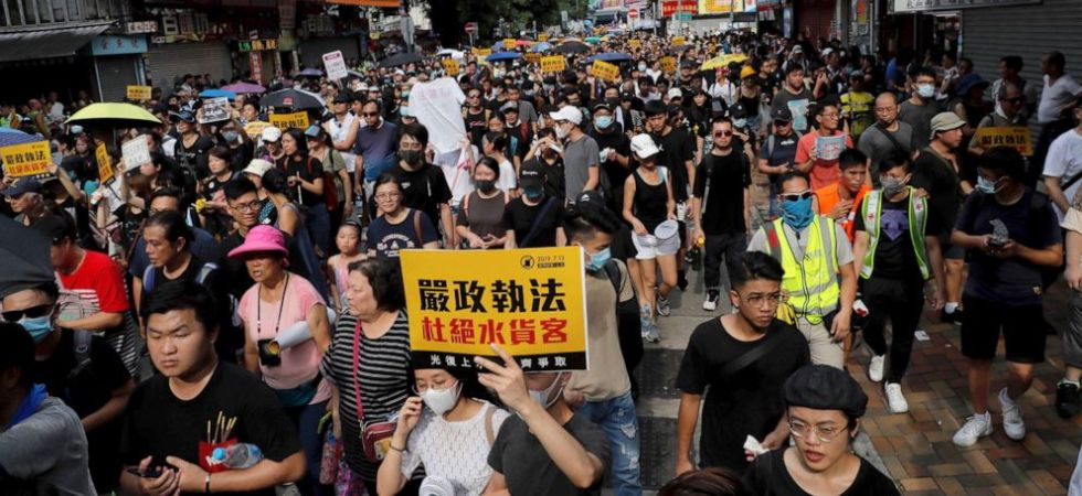 Hong Kong protest (Photo Credit: Twitter)