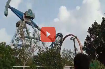 Shocking VIDEO | The moment when joyride came crashing at Ahmedabad amusement park