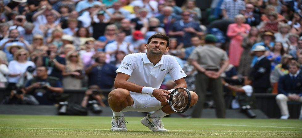 Novak Djokovic won his 16th Grand Slam title and fifth at Wimbledon after beating Roger Federer in a final which lasted close to five hours. (Image credit: Twitter)