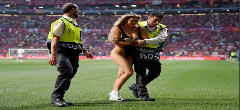 Kinsey Wolanski invaded pitch in black swimsuit during the Champions League final (Image Credit: Twitter)