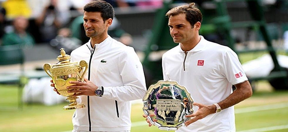 Novak Djokovic denied Roger Federer a chance to win his ninth Wimbledon title as he defeated the Swiss maestro in five pulsating sets. (Image credit: Twitter)