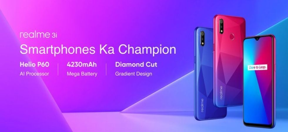 Realme on Monday launched the budget Realme 3i smartphone in India
