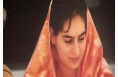 Priyanka Gandhi Vadra joins #SareeTwitter with throwback wedding photo