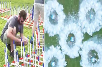Watch: Record launch of 5,000 model rockets to celebrate 50th anniversary of Apollo 11 Mission