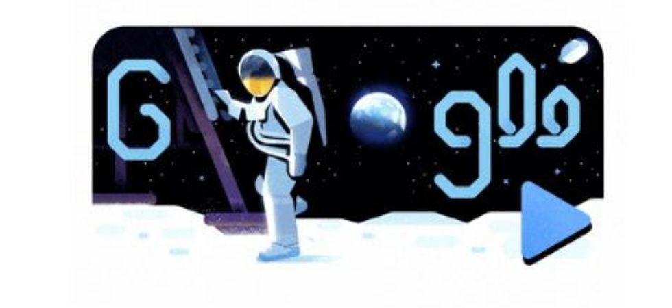 Armstrong's first step onto the lunar surface was broadcast on live TV to a worldwide audience. (Google)