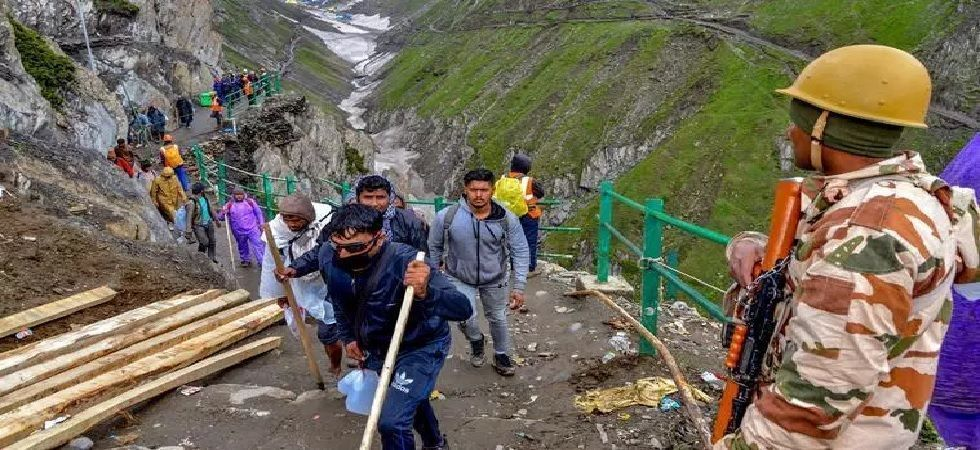 Amarnath yatra is going on smoothly from both the tracks—traditional 36-km Pahalgam and shorter 14-km Baltal route