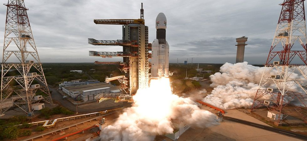 ISRO launched Chandrayaan-2 on-board its powerful rocket GSLV-MkIII-M1 from the spaceport of Sriharikota in Andhra Pradesh on Monday. (ISRO)