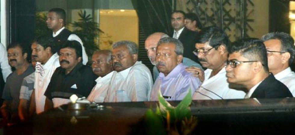 Congress MLAs from Karnataka at a hotel in Mumbai. (File)