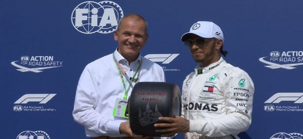 Lewis Hamilton secured his 87th pole and will be gunning for his 81st win in the race tomorrow. (Image credit: F1 Twitter)