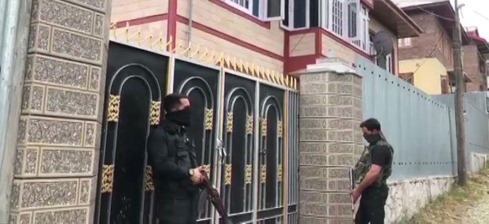 NIA raids are underway in Baramulla. (Image Credit: ANI)
