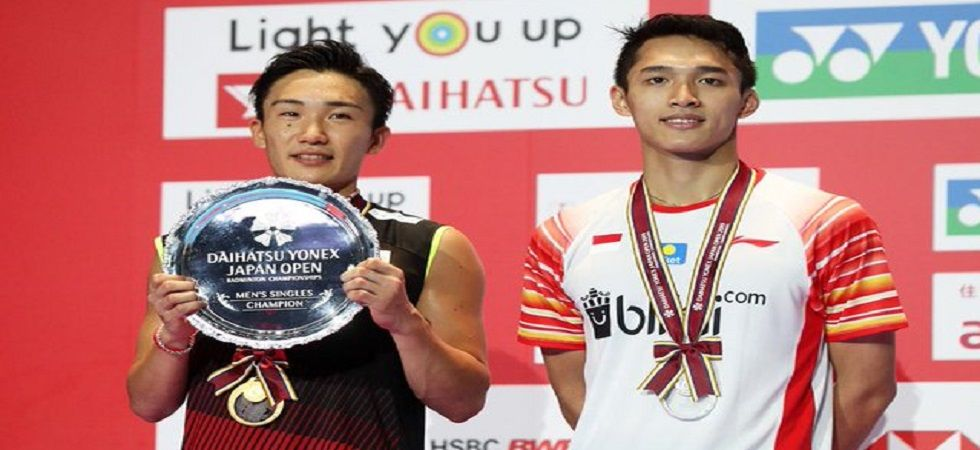 Kento Momota clinched the men's title after world number two Yamaguchi beat third-ranked Nozomi Okuhara in an all-Japanese women's singles decider. (Image credit: Twitter)
