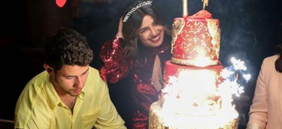 Nick Jonas celebrates Priyanka Chopra's birthday.