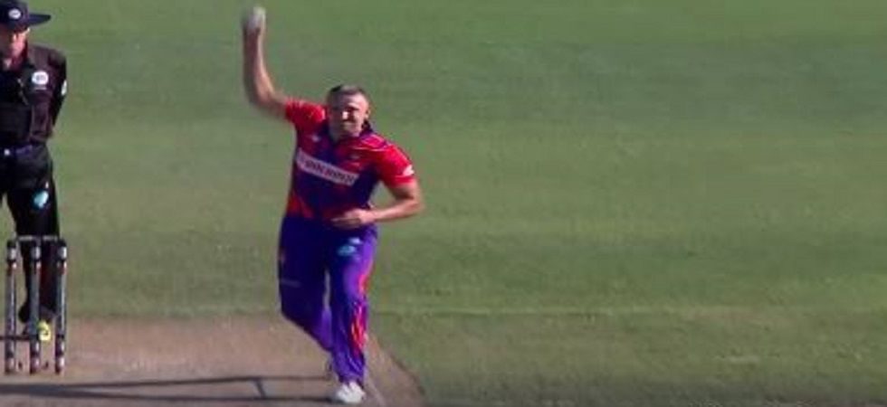 Pavel Florin's unique bowling action has been subject to ridicule during the European Cricket League match. (Image credit: Facebook)