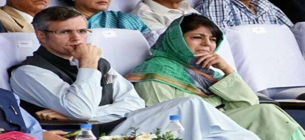 National Conference leader Omar Abdullah and PDP president Mehbooba Mufti