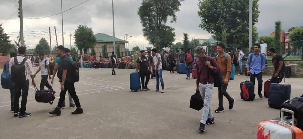 NIT students leaving campus (Photo Source: News Nation)