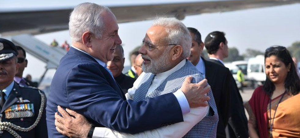 Prime Minister Narendra Modi and his Israeli counterpart Benjamin Netanyahu. (File Photo/Twitter)