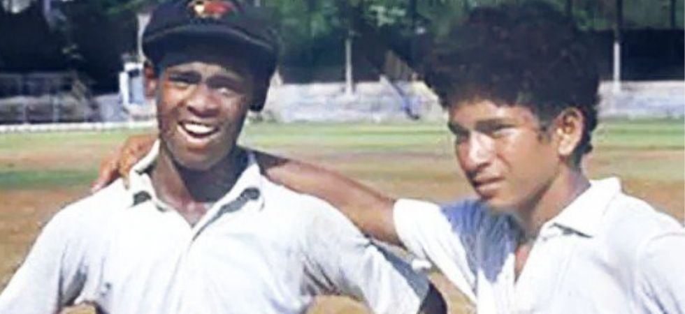 Both Tendulakar and Kambli got training under coach Ramakant Achrekar. (Photo Credit: Sachin Tendulkar/ Twitter)