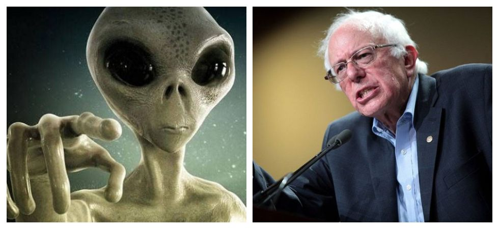 Bernie Sanders promises to tell us about 'Alien Secrets' if elected president (Photo: Twitter)
