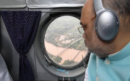 Amit Shah surveys flood-hit Karnataka amid Opposition claims