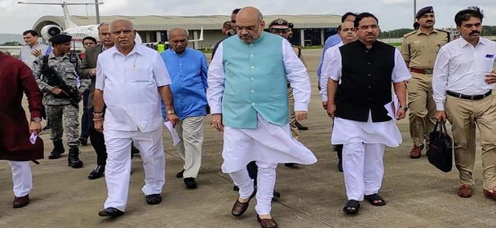 BS Yediyurappa and Home Minister Amit Shah will conduct an aerial assessment of flood damage.