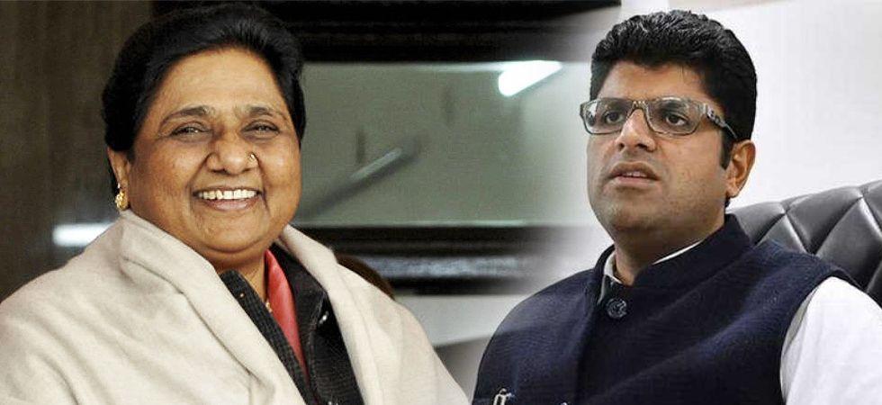 BSP chief Mayawati and JJP leader Dushyant Chautala (File Photo)