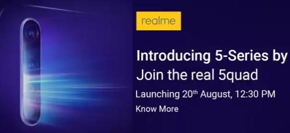 Realme 5-series model India launch (Flipkart)