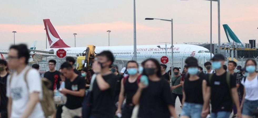 Thousands of protesters besieged the Hong Kong International Airport. (Photo: Twitter/HongKongFP)