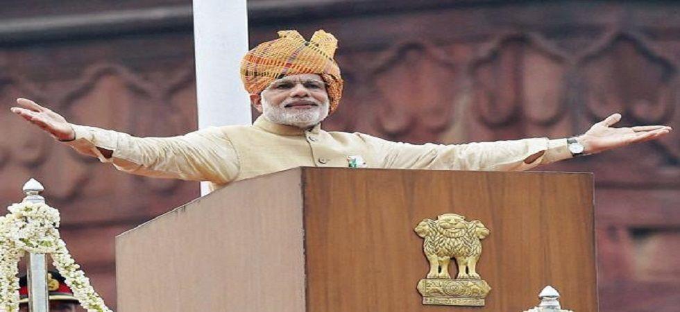 Prime Minister Narendra Modi at the Red Fort. (PTI file photo)