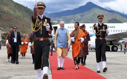 PM in Bhutan LIVE: Modi meets King Wangchuck, receives Guard of Honour at Tashichhoedzong Palace