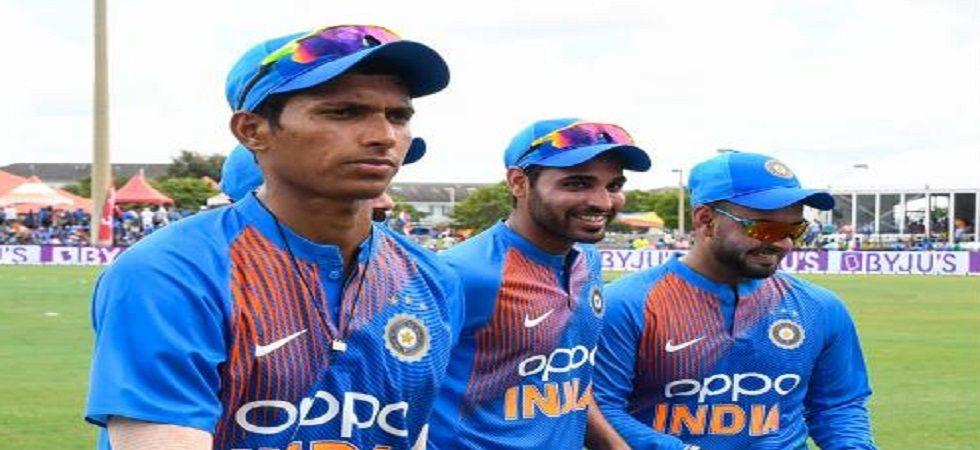 Navdeep Saini impressed on debut in the Twenty20 Internationals against West Indies by taking five wickets in three games. (Image credit: Twitter)