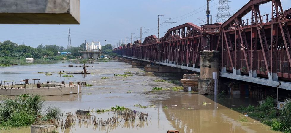 Water level in Yamuna river rises after the release of water from Hathnikund Barrage in Delhi (Photo Source: PTI)