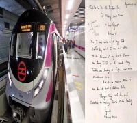 Delhi Metro commuter thanks Dr Sreedharan for his contribution, writes a heartfelt letter